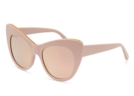 Stella McCartney Falabella Mirrored Chain Cat Eye Sunglasses Fashion 2016